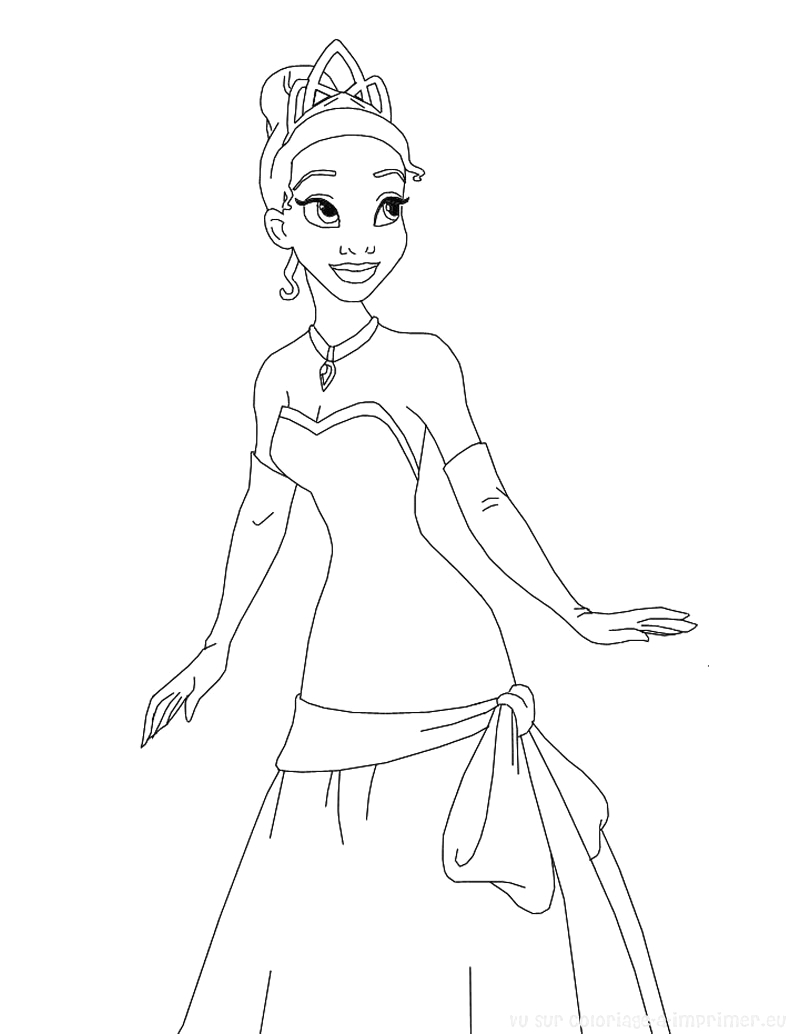image=the princess and the frog Coloring for kids the princess and the frog 1