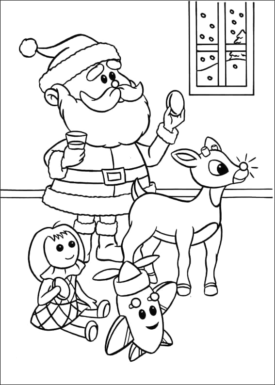 rudolph the red nosed reindeer coloring pages