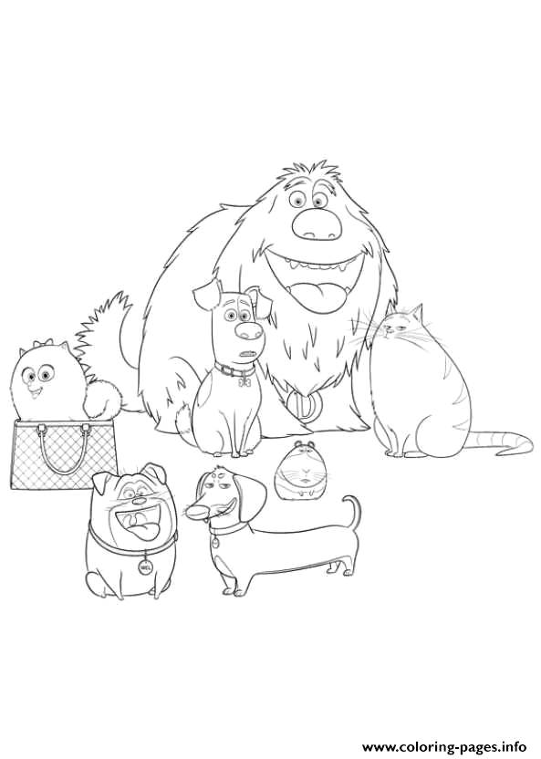 all the family secret life of pets printable coloring pages book