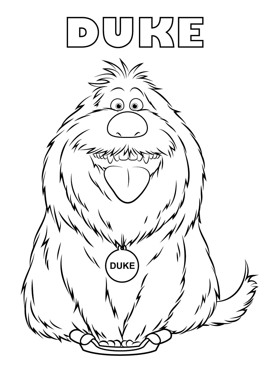 image=the secret life of pets Coloring for kids the secret life of pets 2062 3