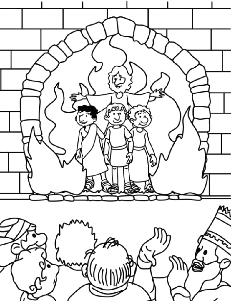 Shadrach Meshach and Abednego Printable Coloring Pages Shadrach Meshach and Abednego Coloring Page at