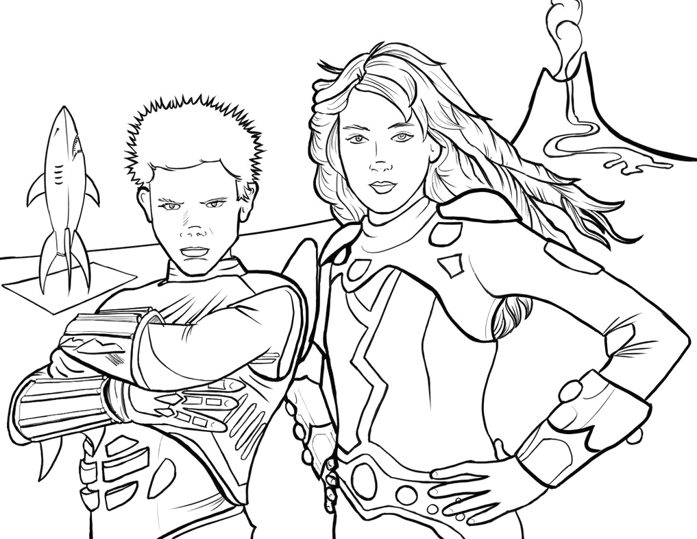 Sharkboy and Lavagirl Coloring Pages to Print Sharkboy and Lavagirl Coloring Page by Pjmintzviantart