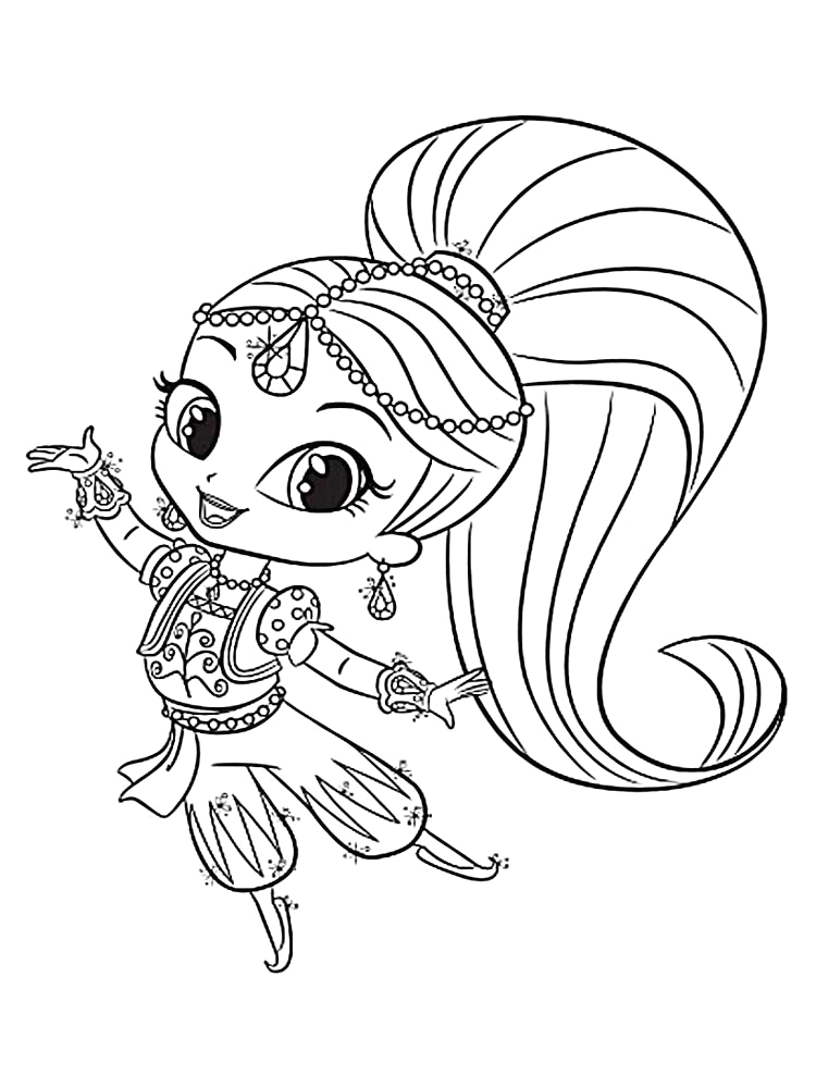 Shimmer and Shine Coloring Pages for Kids Shimmer and Shine Coloring Pages Best Coloring Pages for