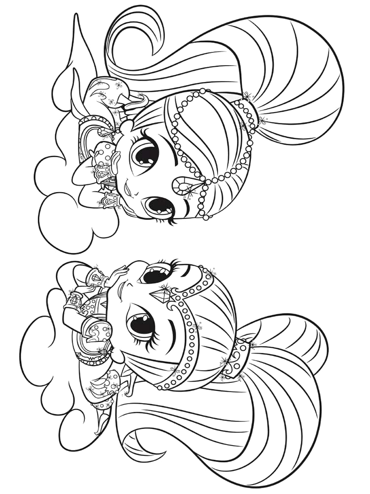 Shimmer and Shine Coloring Pages Free Printable Shimmer and Shine Coloring Pages Free Printable Shimmer