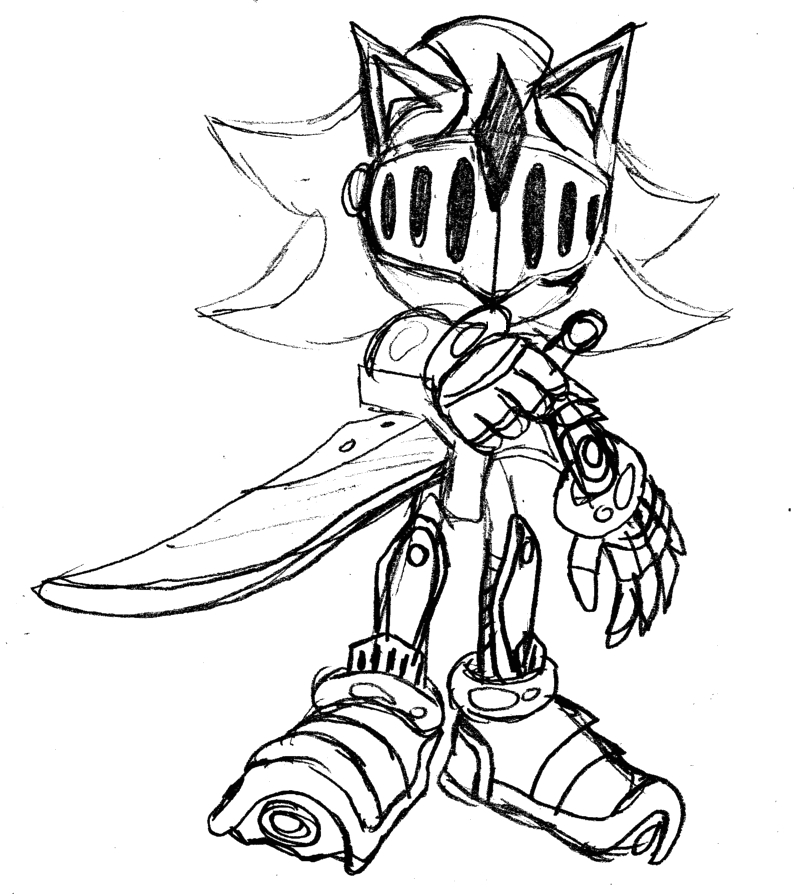 black knight sonic the hedgehog coloring pages sketch templates