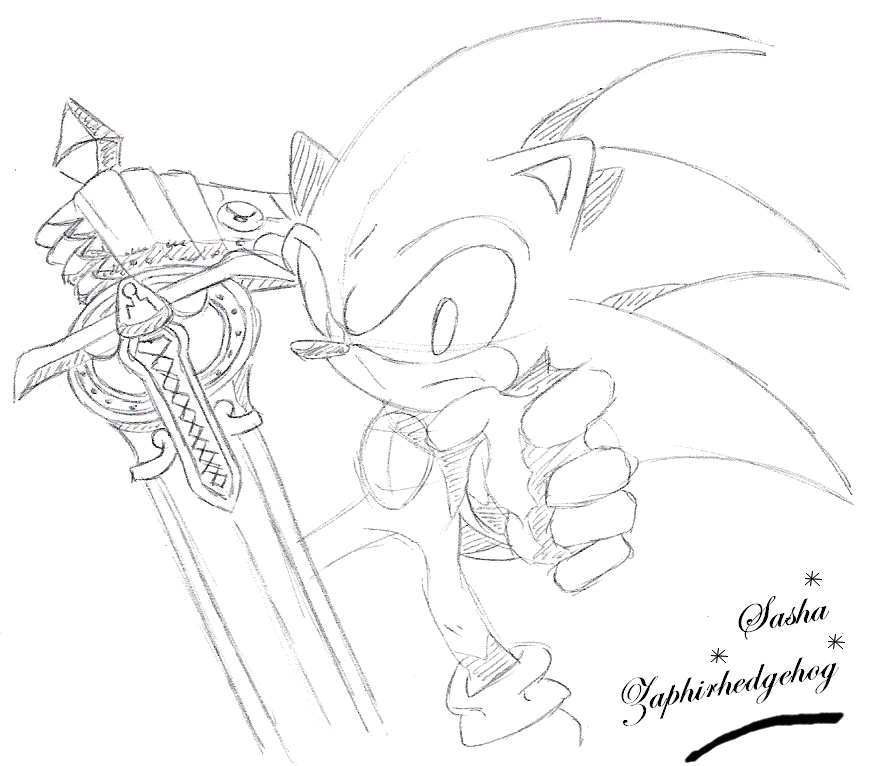 sonic and the black knight coloring pages