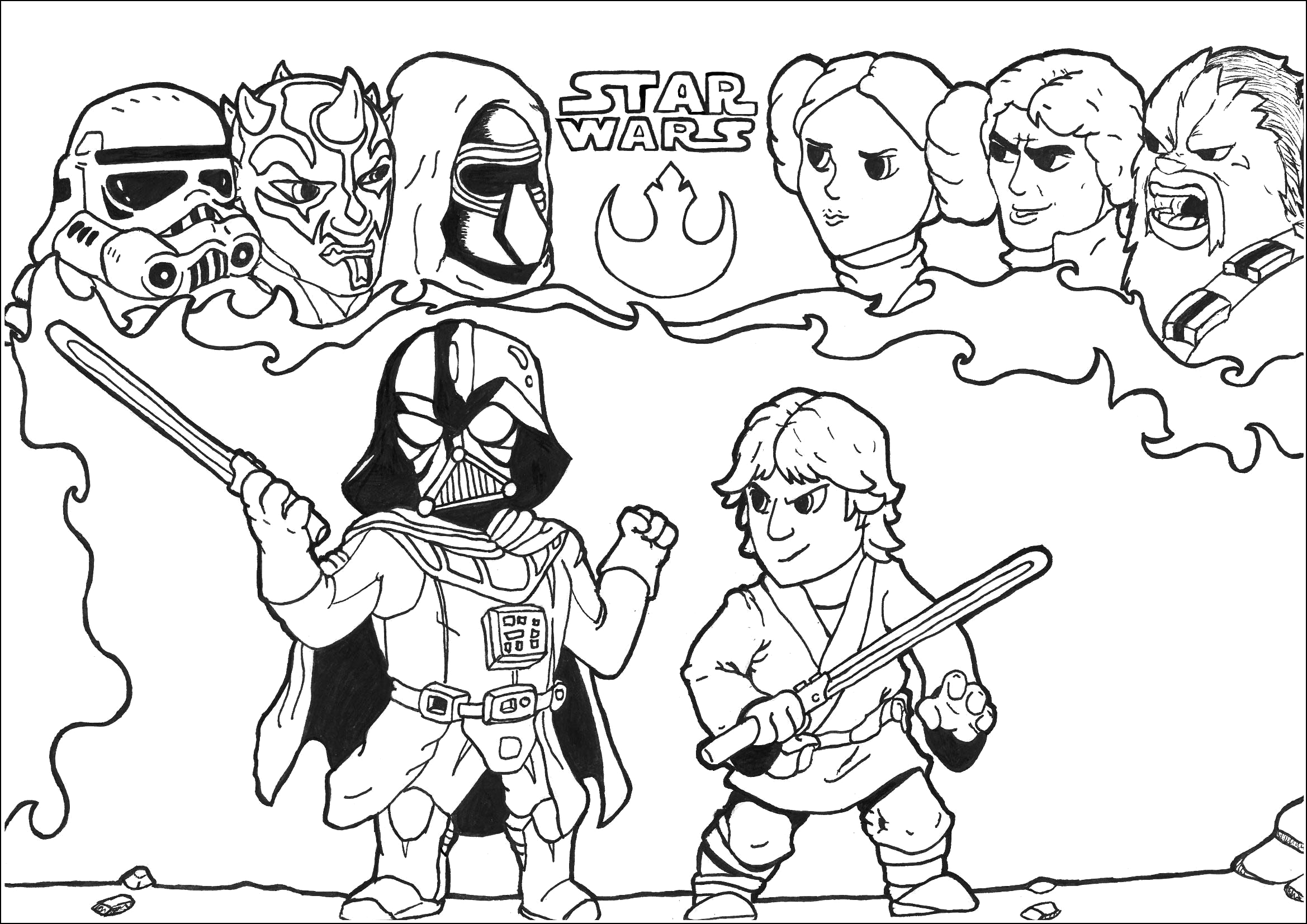 kylo ren coloring pages