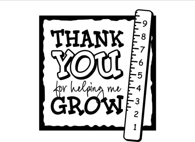 Thank You For Helping Me Grow Wall Decor Stickers contemporary wall decals