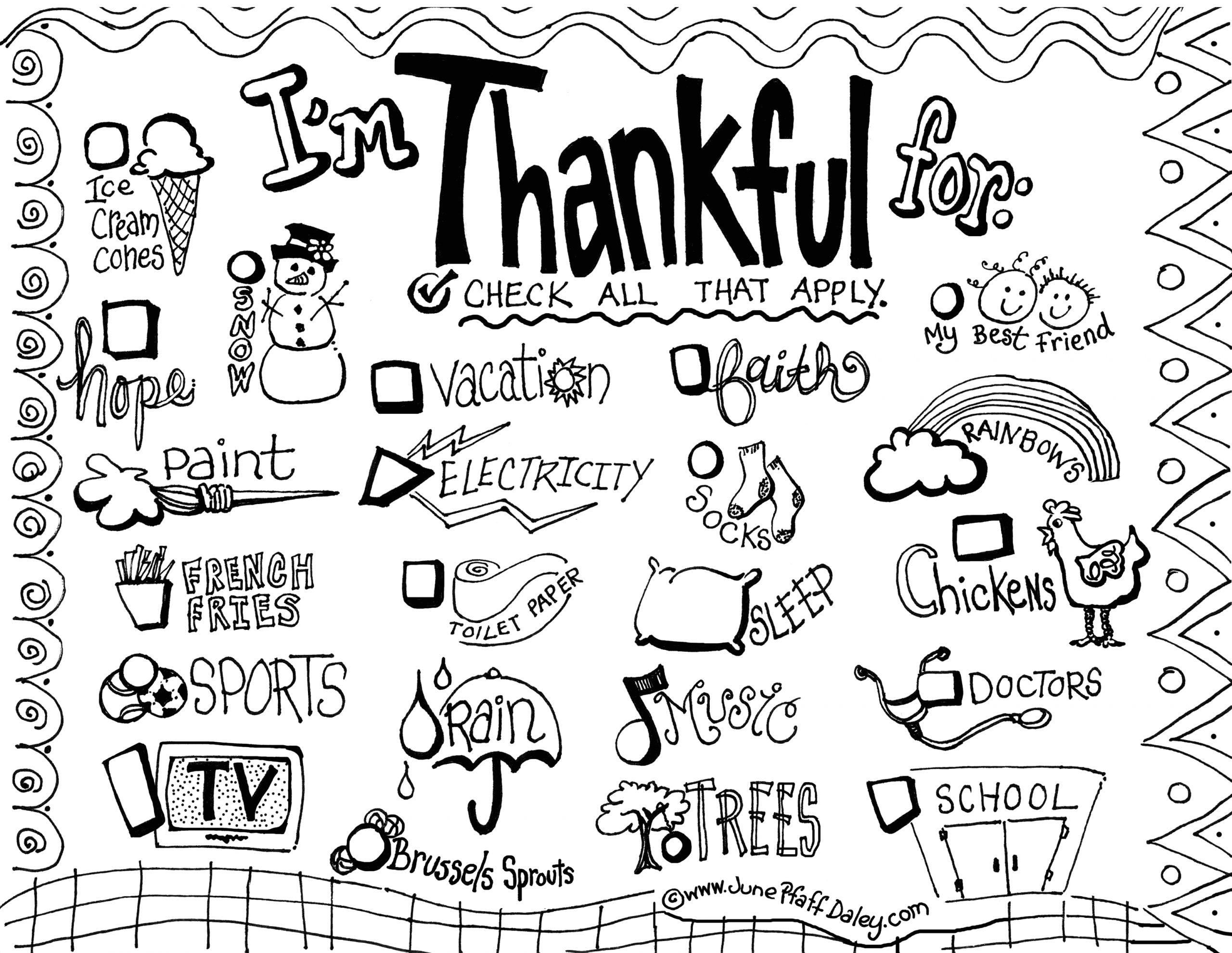 Thanksgiving Coloring Pages I Am Thankful for 6 Best Of I Am Thankful for Placemat Printable I