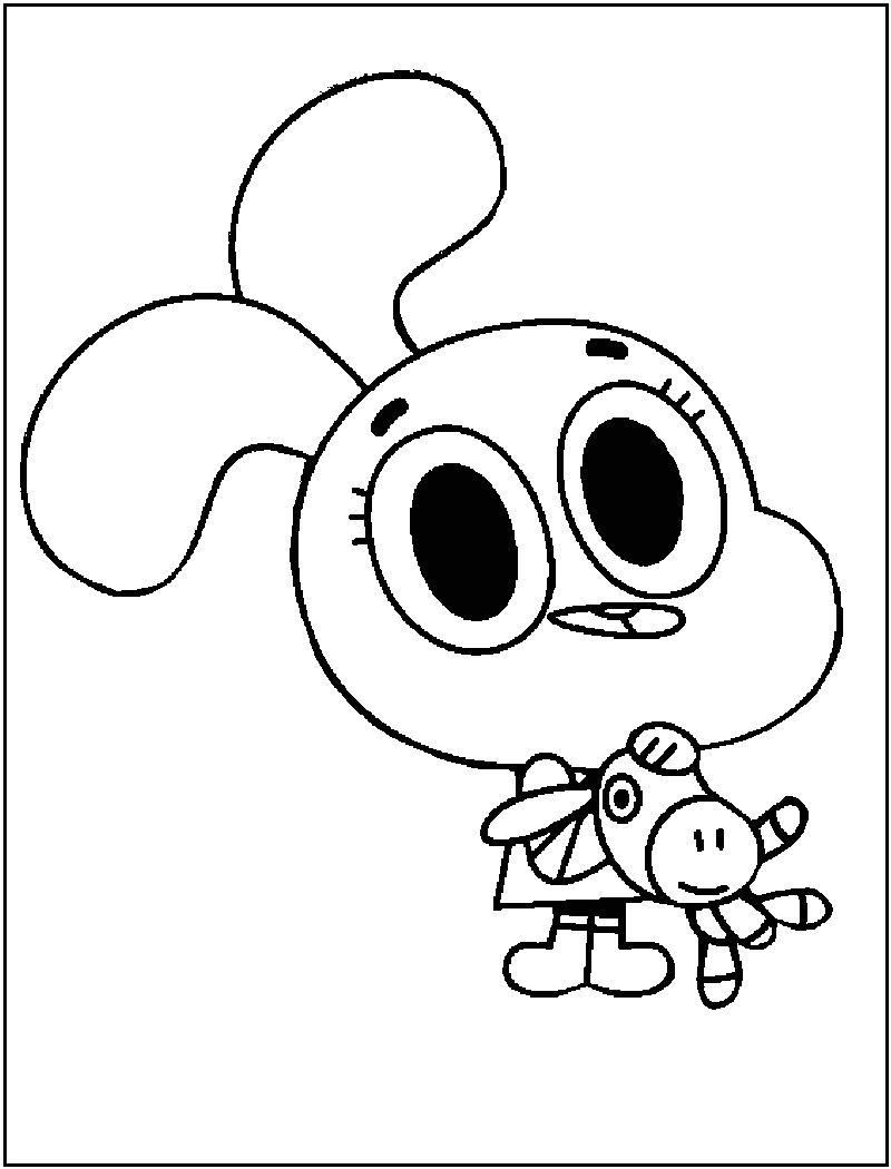 amazing world of gumball coloring pages to print