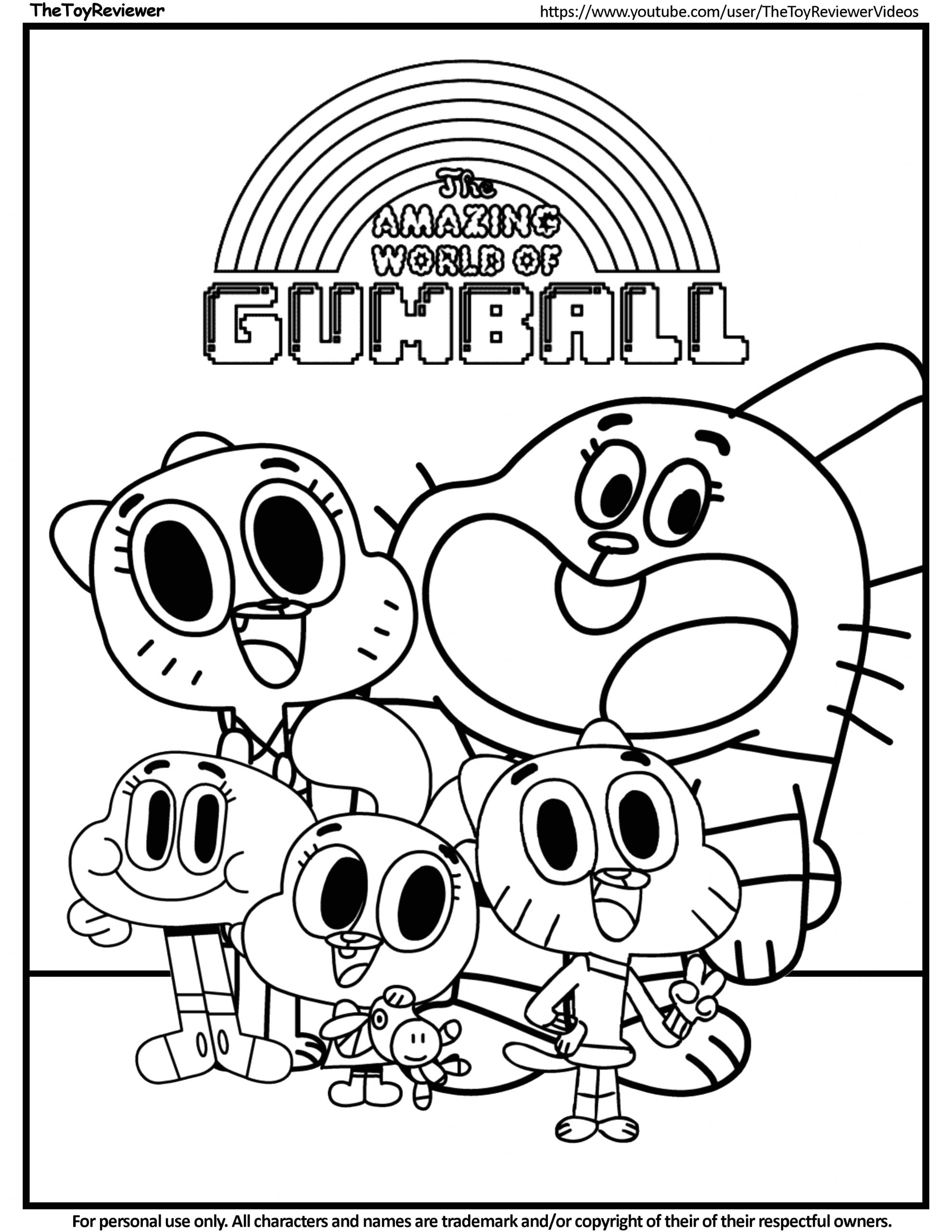The Amazing World Of Gumball Coloring Pages to Print Gumball Coloring Pages Coloring Home
