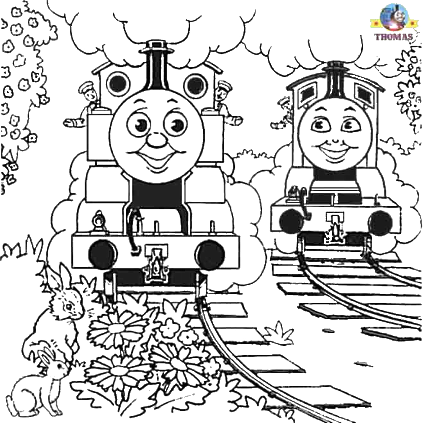 Thomas the Tank Engine Coloring Pages Birthday Thomas Birthday Coloring Pages at Getcolorings