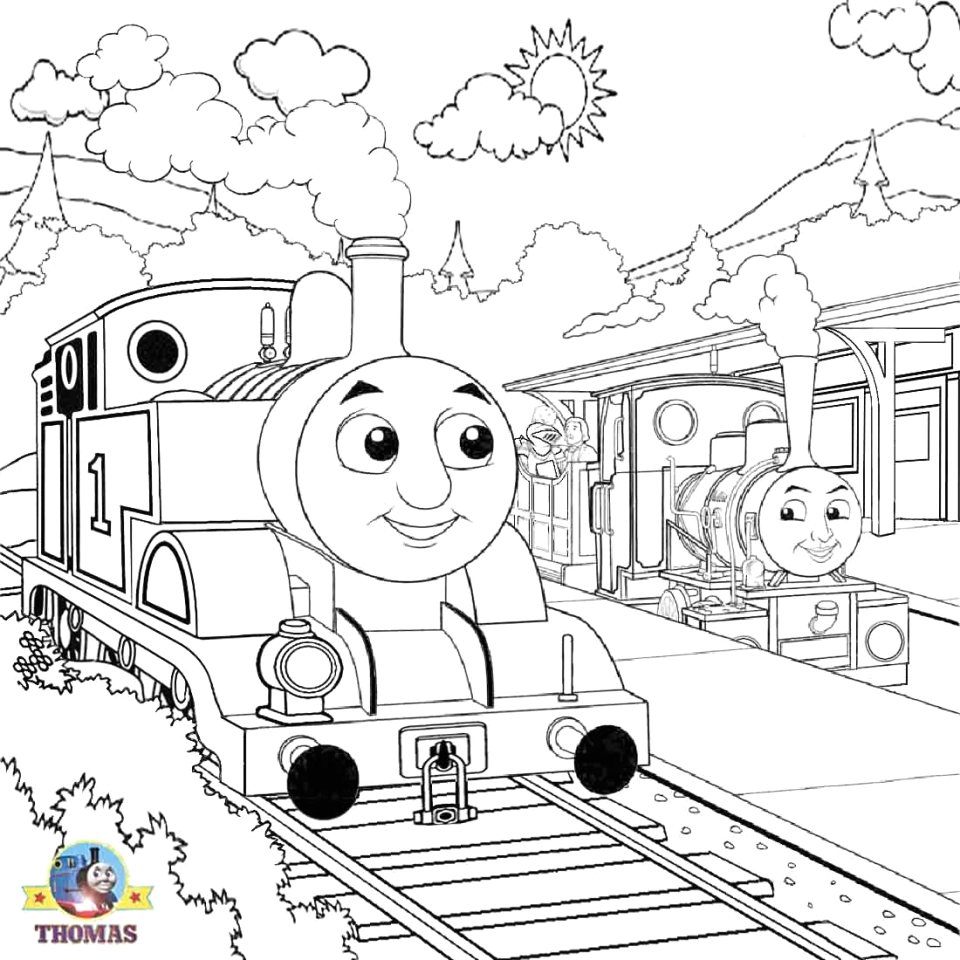 thomas the tank engine coloring pages online