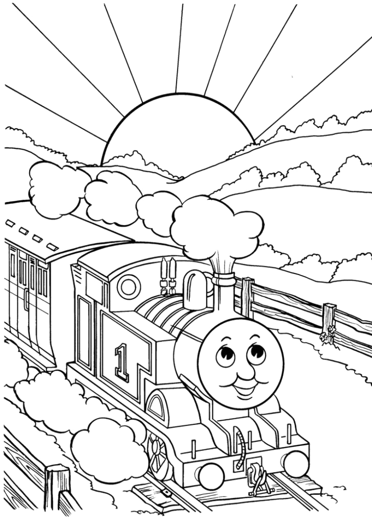 thomas the tank engine coloring pages 14