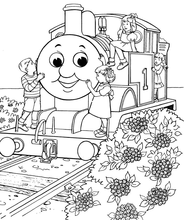Thomas the Tank Engine Coloring Pages to Print Thomas the Tank Engine Coloring Pages 19 Coloring Kids