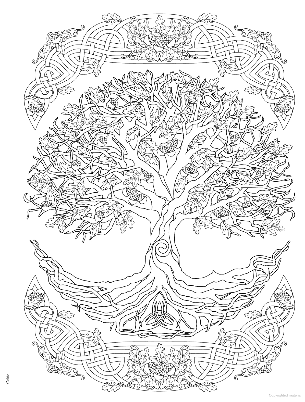 Tree Of Life Coloring Pages for Adults Creative Haven Trees Of Life Coloring Book