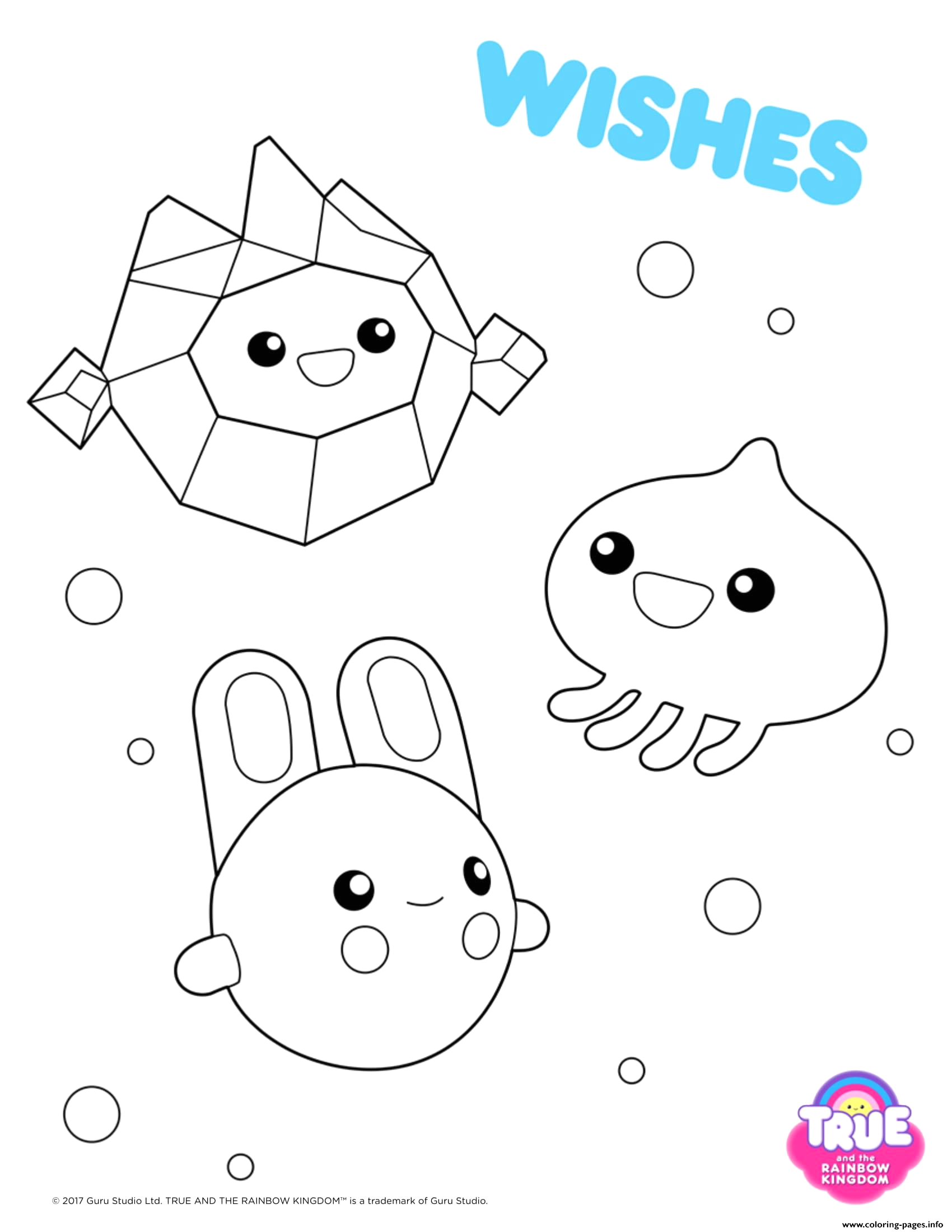 True and the Rainbow Kingdom Wishes Coloring Pages Wishes 1 True and the Rainbow Kingdom Coloring Pages Printable