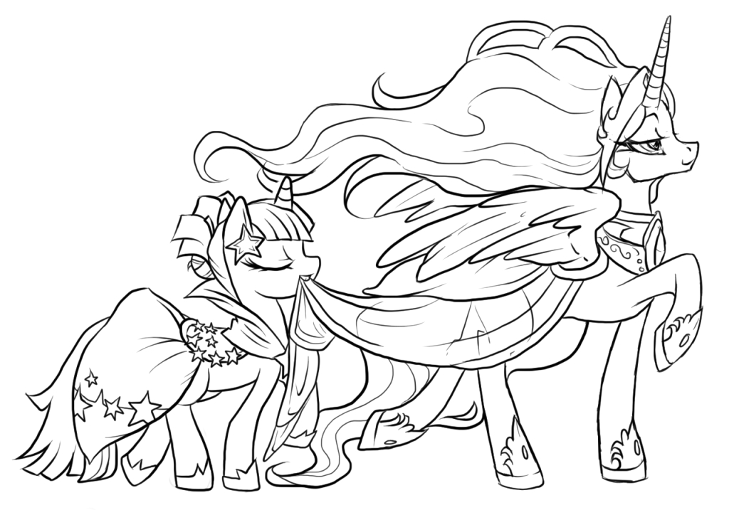Twilight Sparkle My Little Pony Coloring Pages Princess Celestia Princess Celestia Coloring Pages