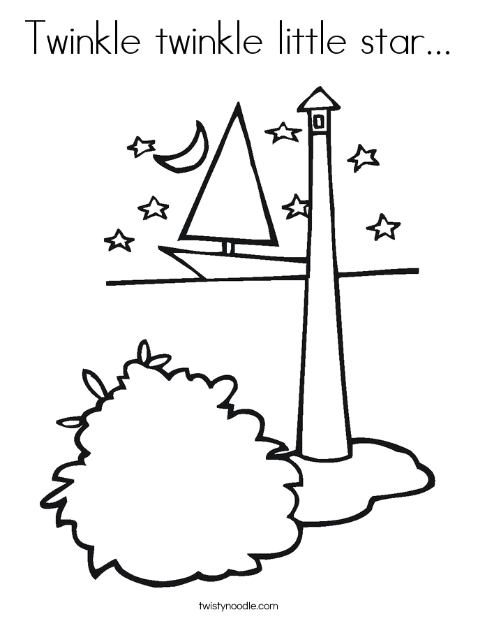twinkle twinkle little star 3 coloring page