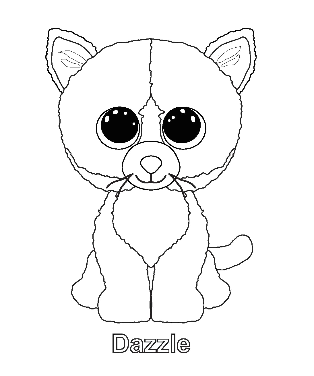 Ty Beanie Boo Coloring Pages to Print Ty Beanie Boo Coloring Pages Download and Print for Free