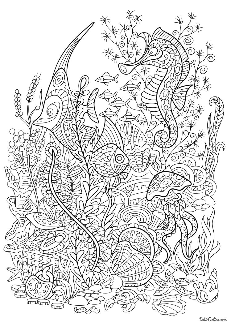 Under the Sea Coloring Pages for Adults 335 Best Under the Sea Coloring Pages for Adults Images On