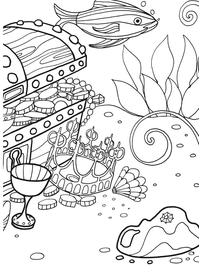 under the sea coloring or painting pages