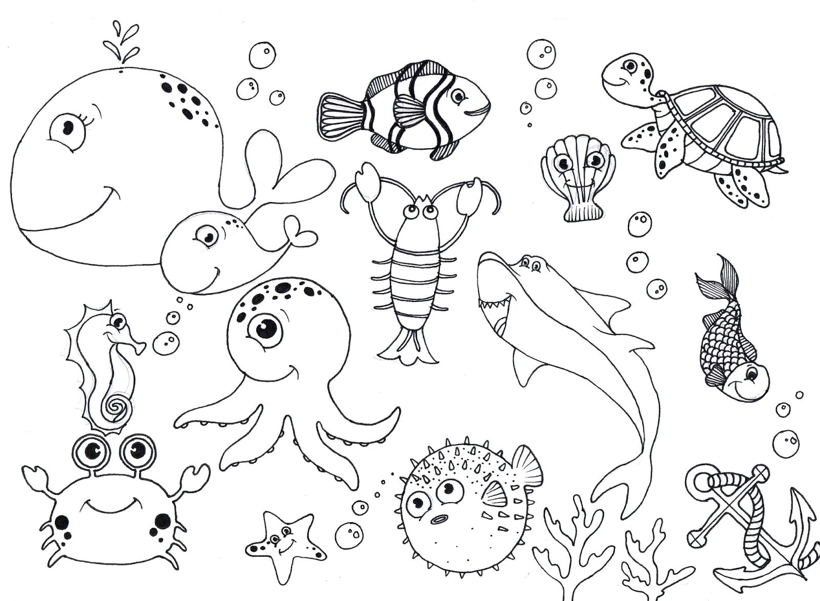 Under the Sea Coloring Pages for Kids Free Under the Sea Coloring Pages to Print for Kids