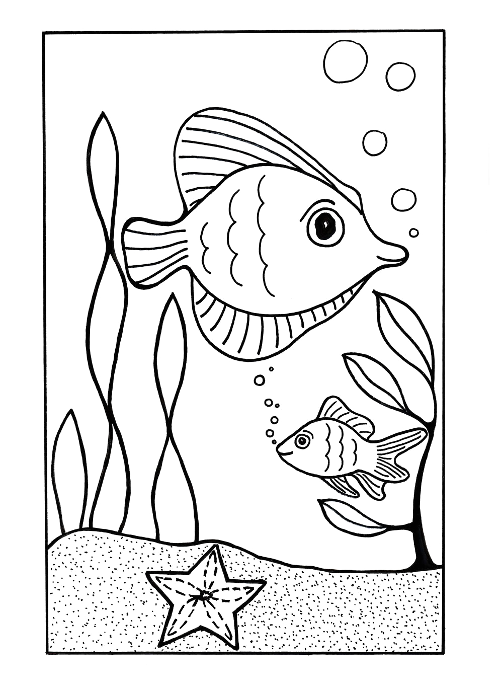 Under the Sea Coloring Pages to Print Under the Sea Coloring Page