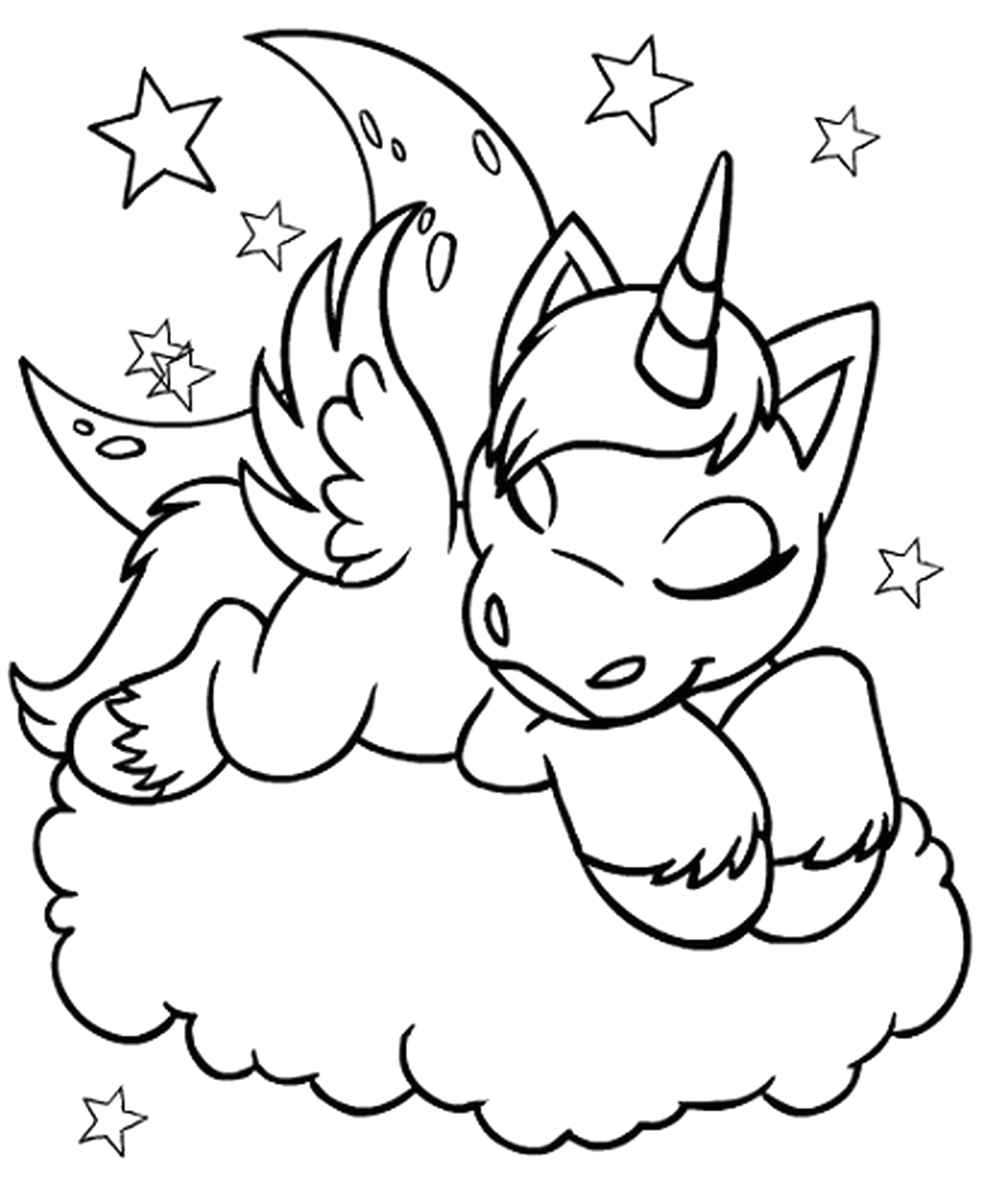 Unicorn Coloring Pages to Print for Free Unicorn Coloring Pages Free – Learning Printable