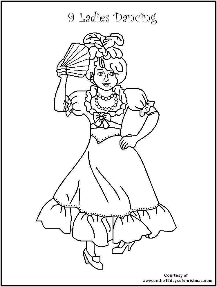 twelve days of christmas coloring pages free