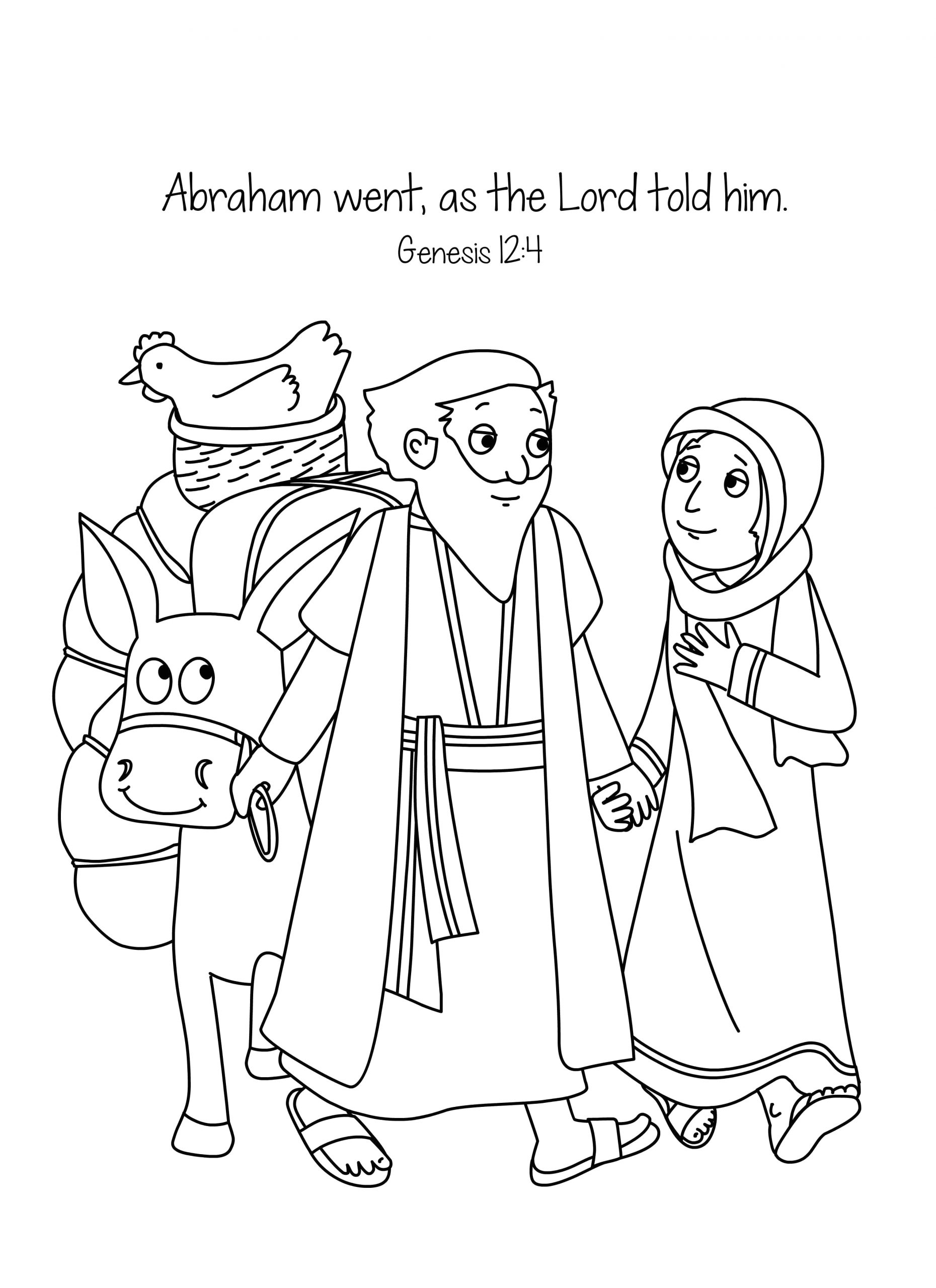 Abraham and Sarah Coloring Pages Sunday School Free Bible Coloring Page Abraham and Sara A New Home