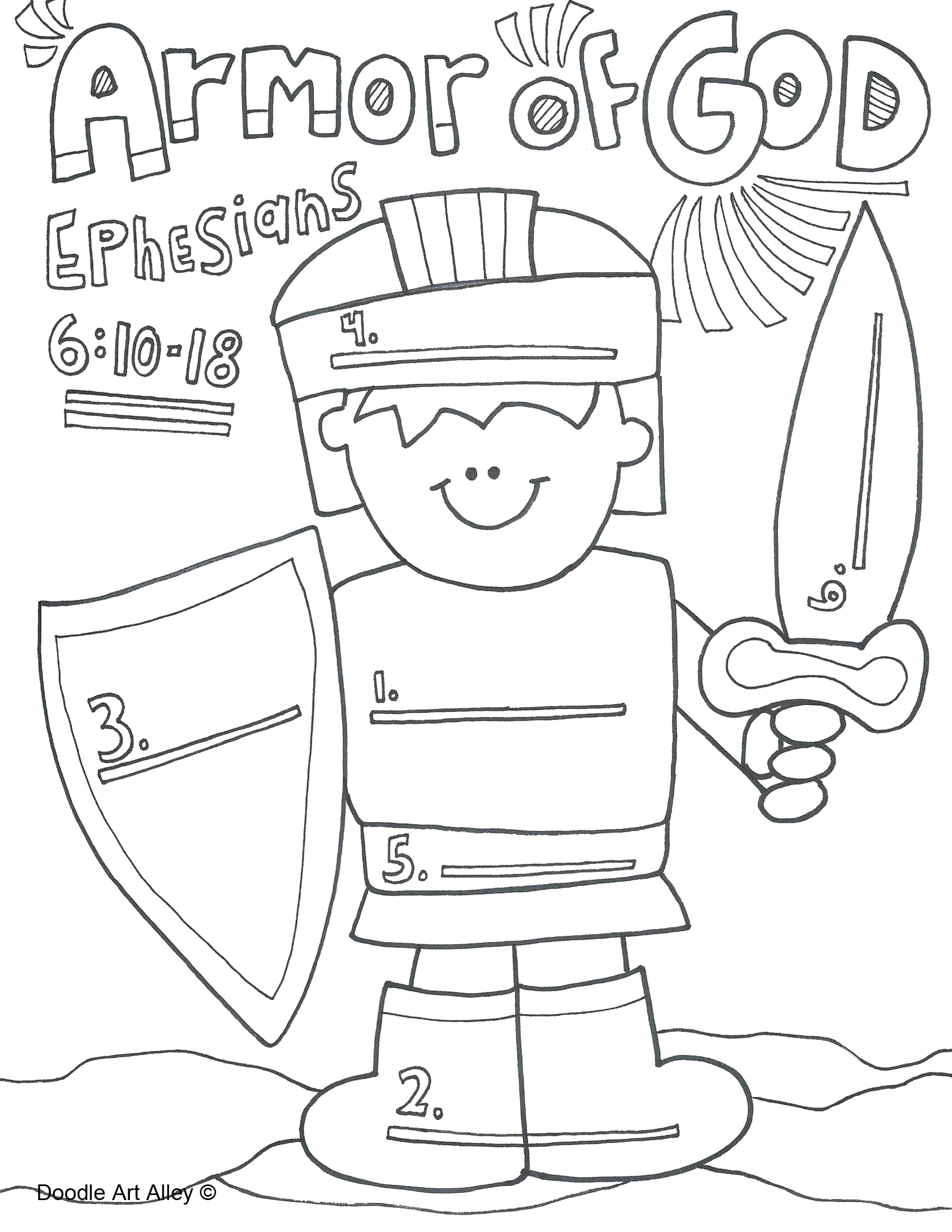 Armor Of God for Kids Coloring Pages Armor God Coloring Page Unique Salvation Bible Coloring