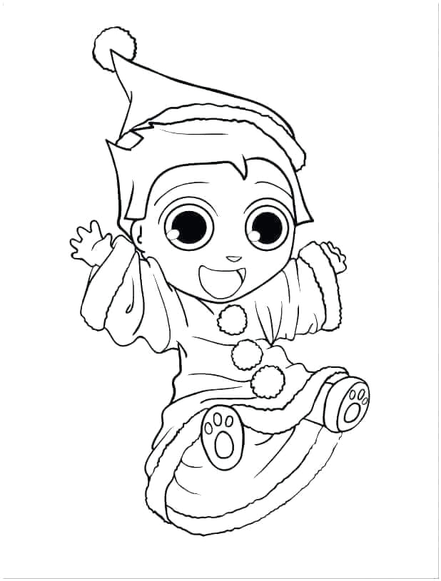 Baby Elf On the Shelf Coloring Pages 30 Free Printable Elf the Shelf Coloring Pages
