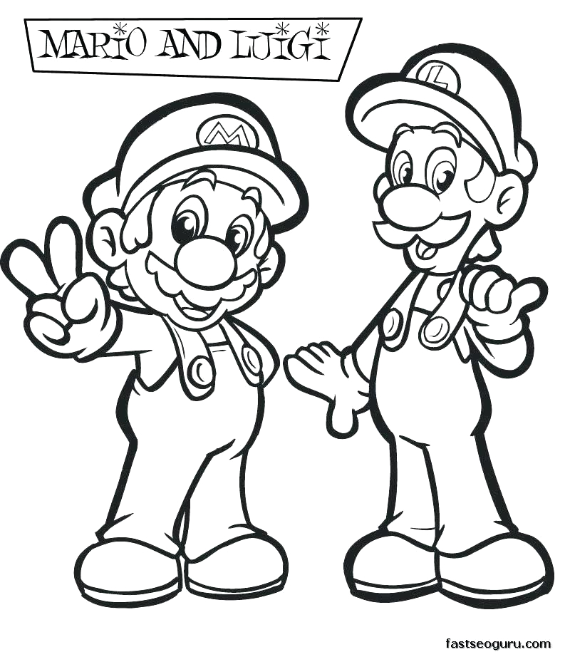 Baby Mario and Baby Luigi Coloring Pages Baby Mario and Baby Luigi Coloring Pages at Getdrawings