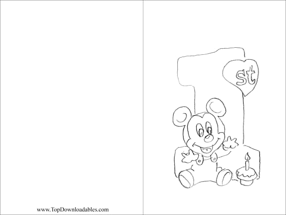 Baby Mickey Mouse 1st Birthday Coloring Pages 12 Best Of Mickey Mouse Math Worksheets Mickey