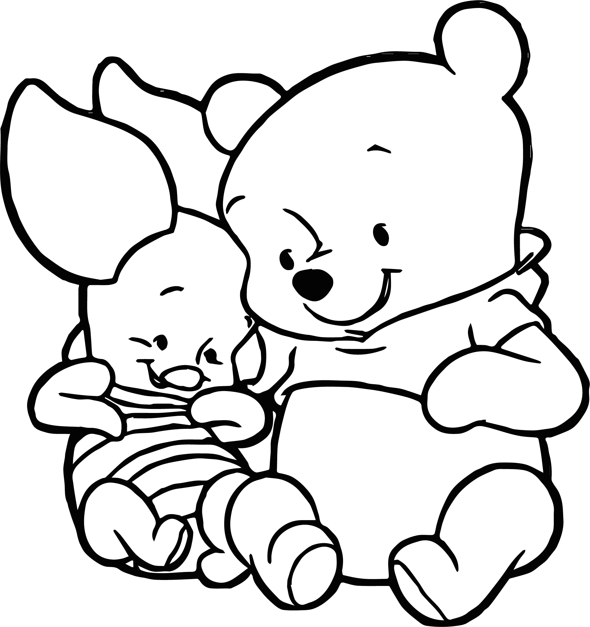 Baby Piglet From Winnie the Pooh Coloring Pages Cute Baby Piglet Winnie the Pooh Coloring Page