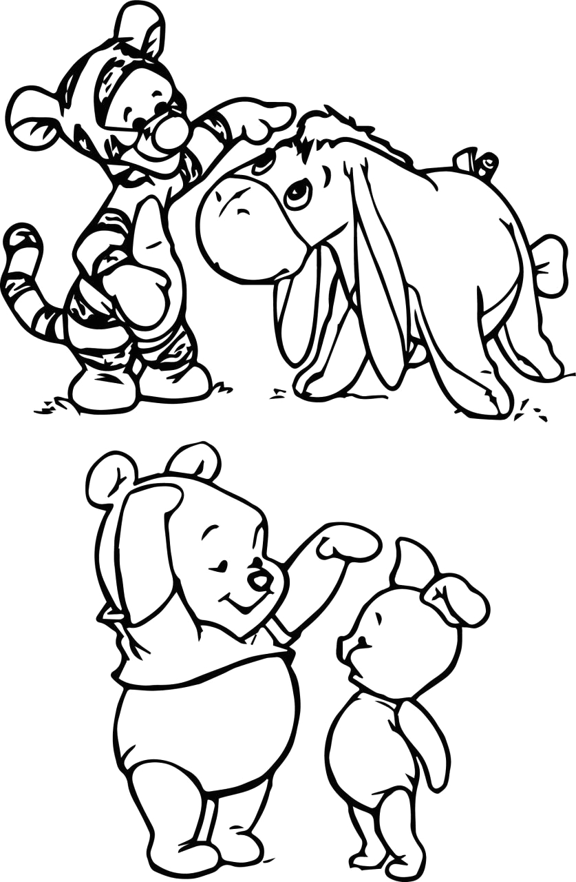 Baby Winnie the Pooh Characters Coloring Pages Baby Winnie the Pooh Characters Coloring Pages