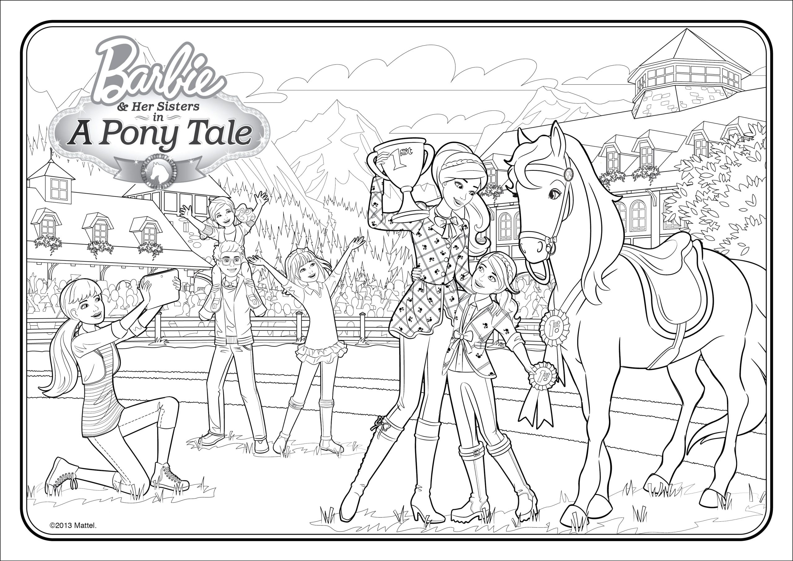 free printable barbie dreamhouse adventure barbie dream house coloring pages