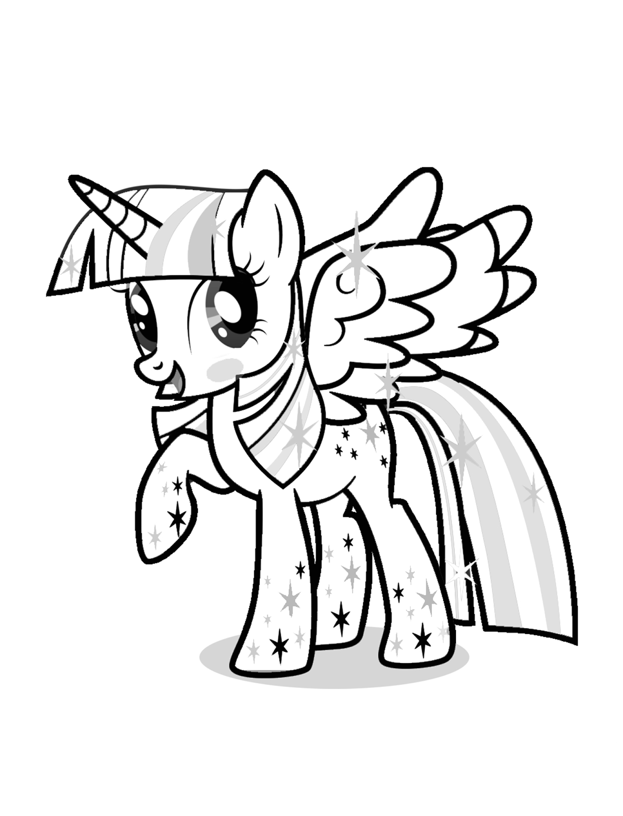 my little pony princess cadence and twilight sparkle coloring pages sketch templates