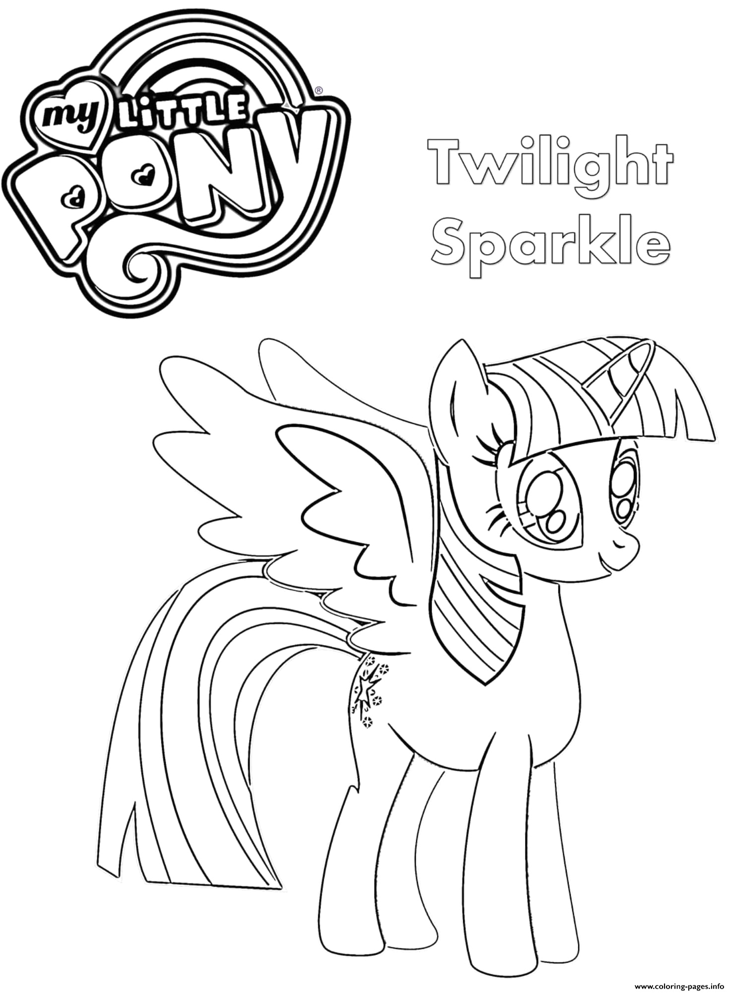 twilight sparkle my little pony printable coloring pages book