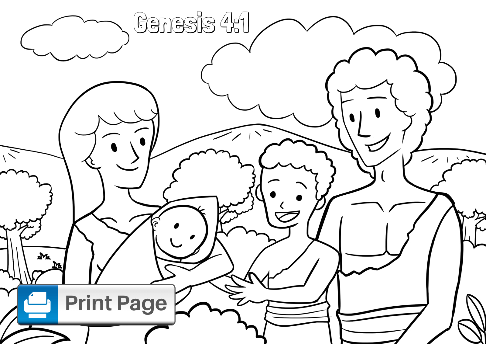 cain and able coloring pages