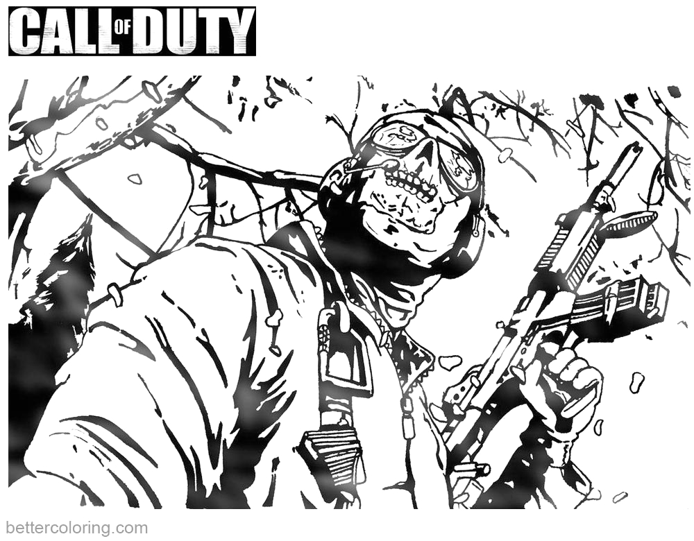 Call Of Duty Black Ops 2 Coloring Pages Call Of Duty Coloring Pages Black Ops 2 Free Printable