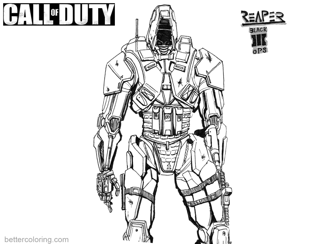 Call Of Duty Black Ops 3 Coloring Pages Call Of Duty Coloring Pages Black Ops 3 Reaper Free