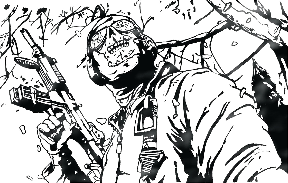 coloriage call of duty black ops