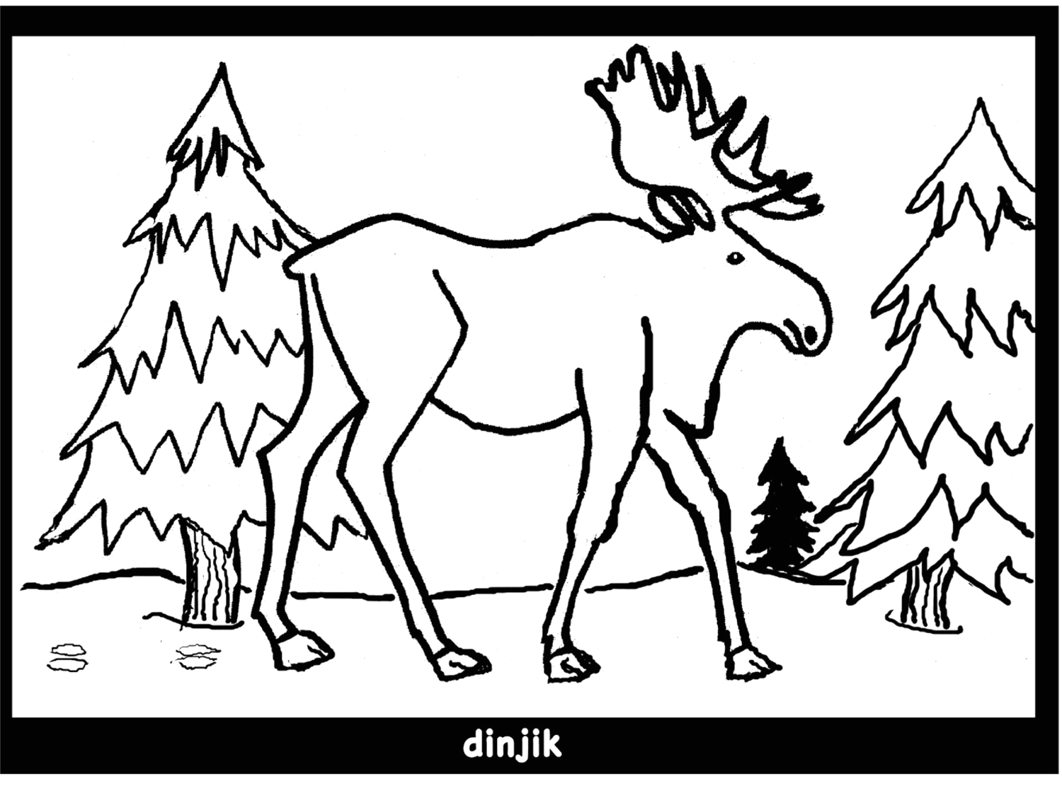 moose colouring pages