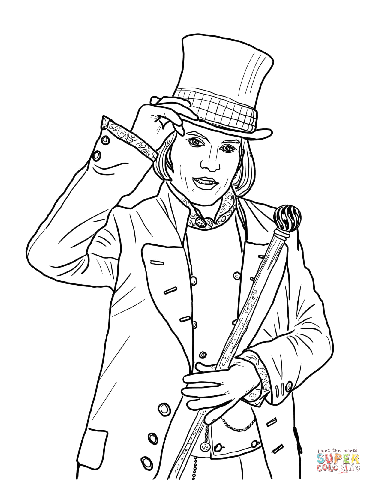Charlie and the Chocolate Factory Coloring Pages Charlie and the Chocolate Factory Coloring Pages