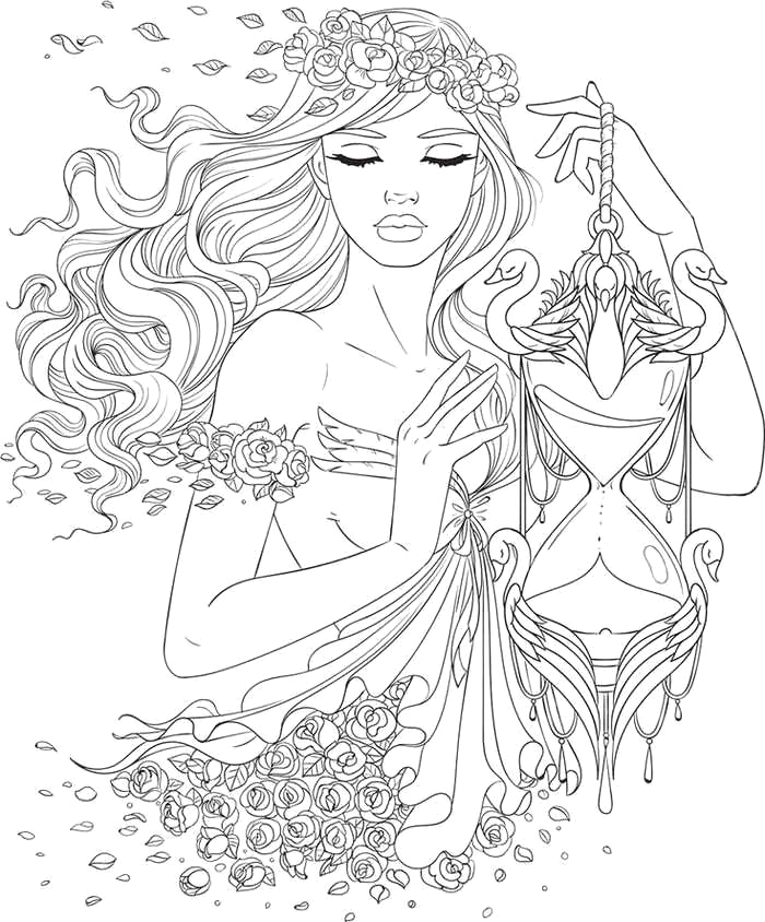 teen girl coloring pages
