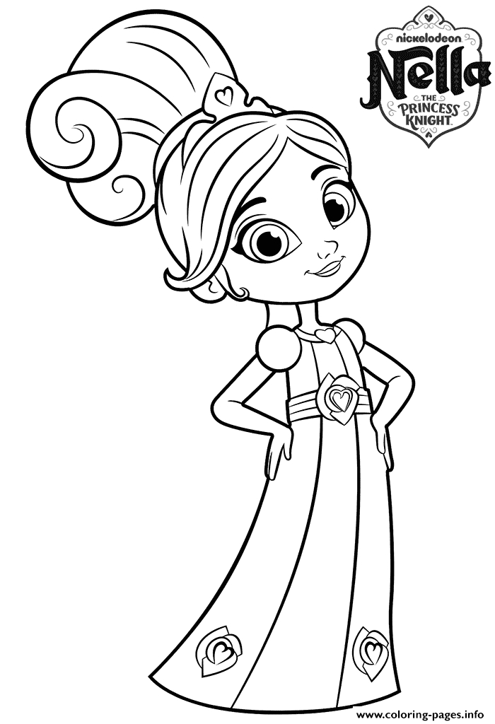 8 year old princess nella knight printable coloring pages book