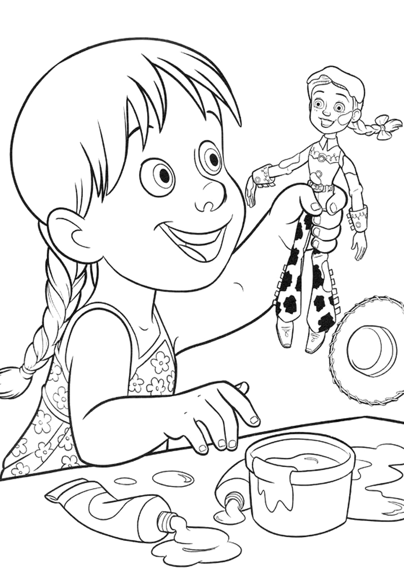 jessie coloring pages from disney