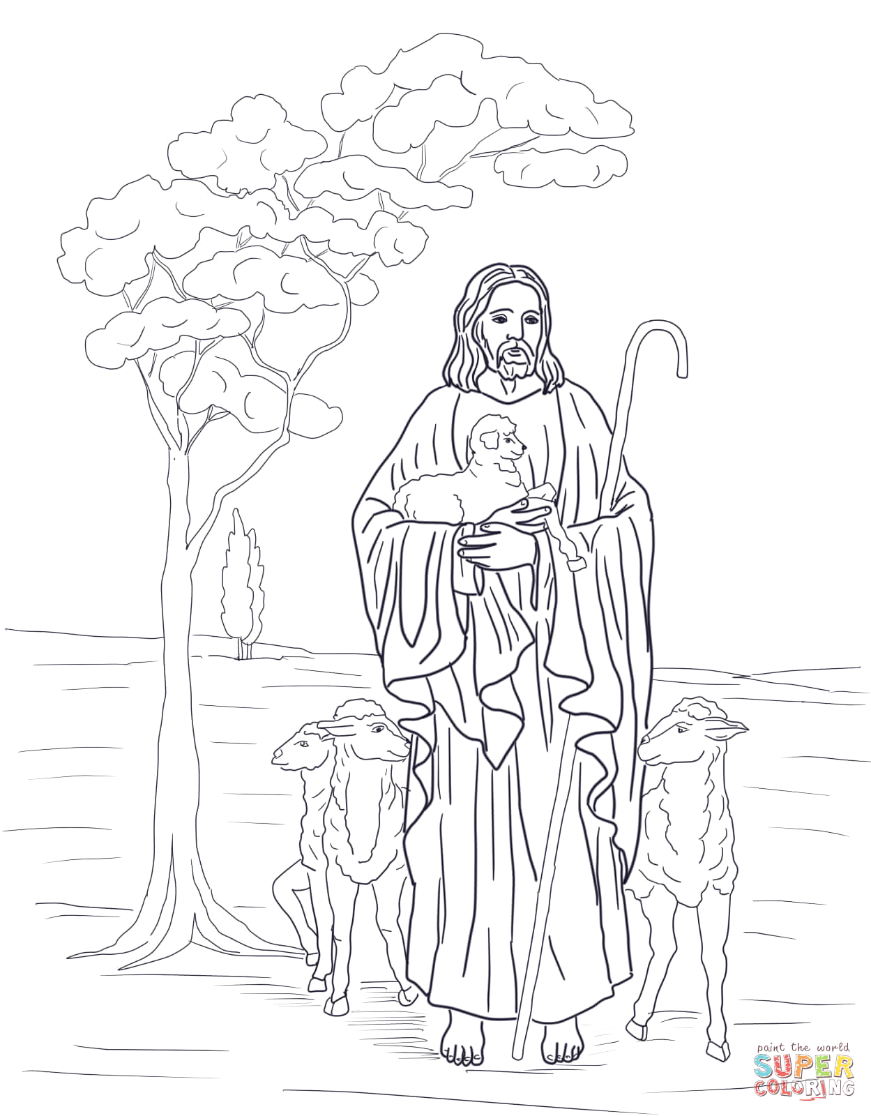 good shepherd coloring pages free
